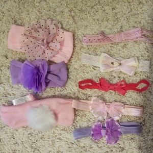 Other - Baby girl head wraps hair bands hair bows